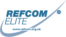 Refcom Elite Logo with website